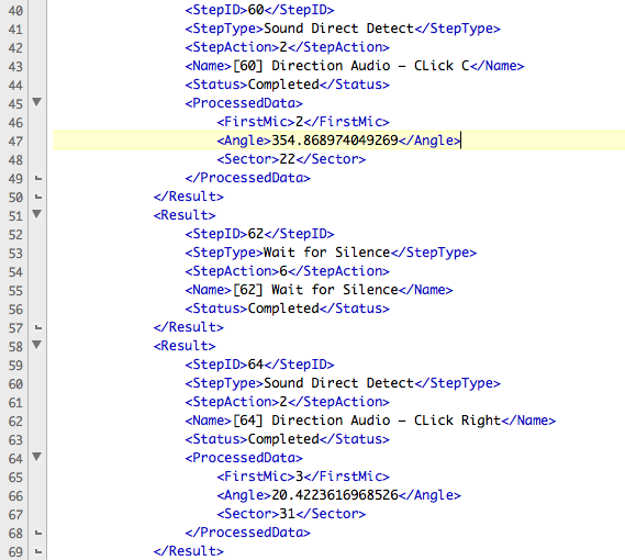 DXG Direction Report in xml